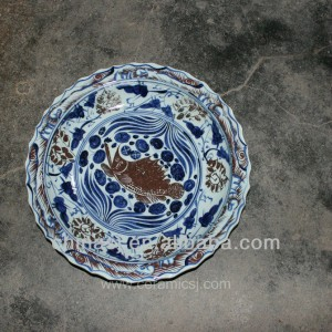 big decorative Porcelain Plate for appreciate RYVH09
