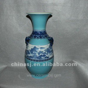 blue Decorative Porcelain Vase RYVF06