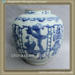 blue and white cheap flower vase RYVW02