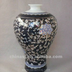 blue and white gilt ceramic Flower Vase RYTA05