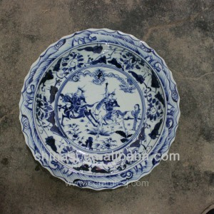 blue white decorative Porcelain Plate for appreciate RYVH01