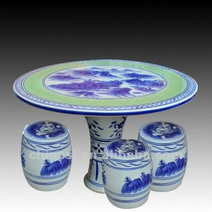chinese blue and white ceramic table stool RYAY255