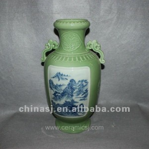 green Decorative Porcelain Vase RYVF02