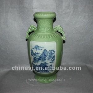 green Decorative Porcelain Vase RYVF02