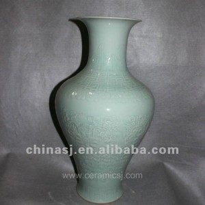 hand made green ceramic Vase RYVE04