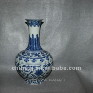hand pained Blue and White Porcelain vase RYVD04