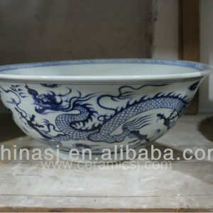 large dragon decorative porcelain planter RYVH13