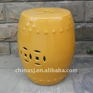 outdoor furniture yellow drum garden stool WRYIR82