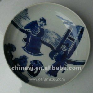 unique blue and white Ceramic Decor Plate WRYV92