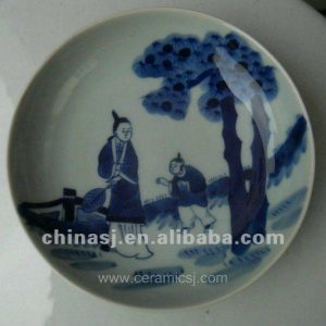 unique blue and white Ceramic Decor Plate WRYV93