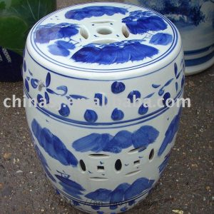 Blue and White Ceramic Garden Stool RYAZ319