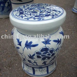Blue and White Ceramic Garden Stool RYAZ321