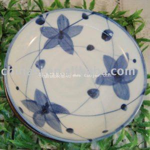 Blue flower Porcelain Decor Plate WRYEW16