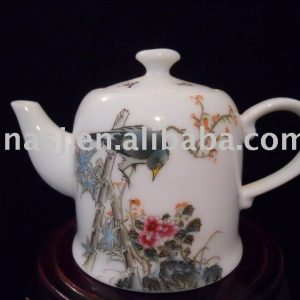 Chinese Porcelain tea pot with flower bird design WRYB03