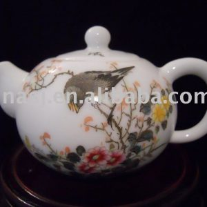 Chinese Porcelain tea pot with flower bird design WRYB04