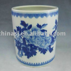 WRYAS93 Chinese Traditional blue white ceramic Pen Holder