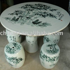 Chinese bamboo ceramic garden table set WRYAY22