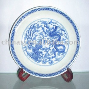 Chinese dragon and phenix Wall plate WRYAS38