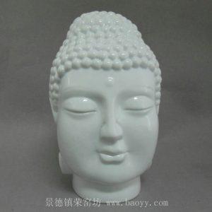 WRYBZ160 Chinese white Ceramic Buddha Head