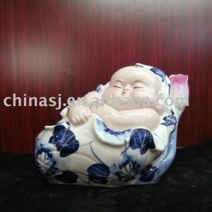 Fine ceramic figurine Buddhist monk WRYEQ18