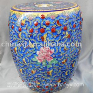 Floral decorative Porcelain garden Stool WRYIR63