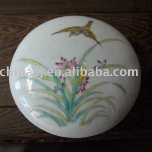 Flower and Bird Porcelain Inkpad Box WRYDN05