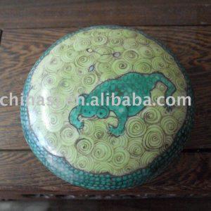 Green Frog Porcelain Inkpad Box WRYDN13