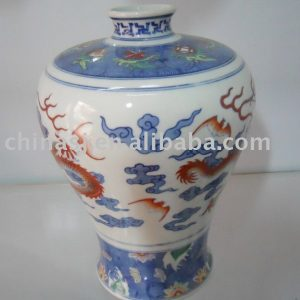 Hand made Chinese dragon Ceramic Vase WRYAS65