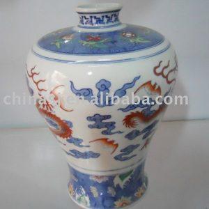 Hand made Chinese dragon Ceramic Vase WRYAS65