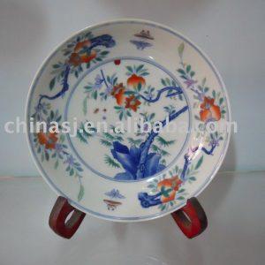 Handmade Porcelain flower plate WRYAS55