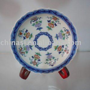Handmade Porcelain flower plate WRYAS56