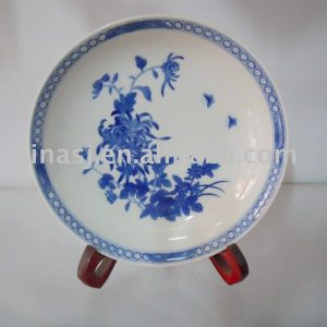 Handmade porcelain blue and white plate WRYAS59