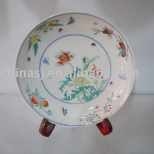 Handmade porcelain flower plate WRYAS58
