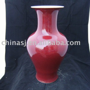 Home decoration Porcelain Vase red