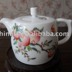 Lovely peach porcelain tea pot WRYAG39