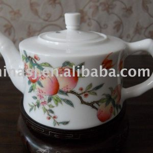 Lovely peach porcelain tea pot WRYAG40