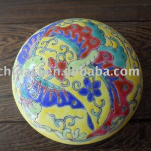 Nice Porcelain Colorful Inkpad Box Business use WRYDN07