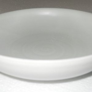 RYGZ08 White Glazed Pottery Plate