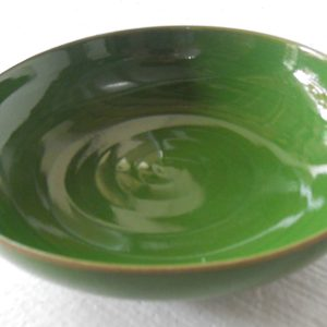 RYGZ10 green glazed porcelain dinner plate