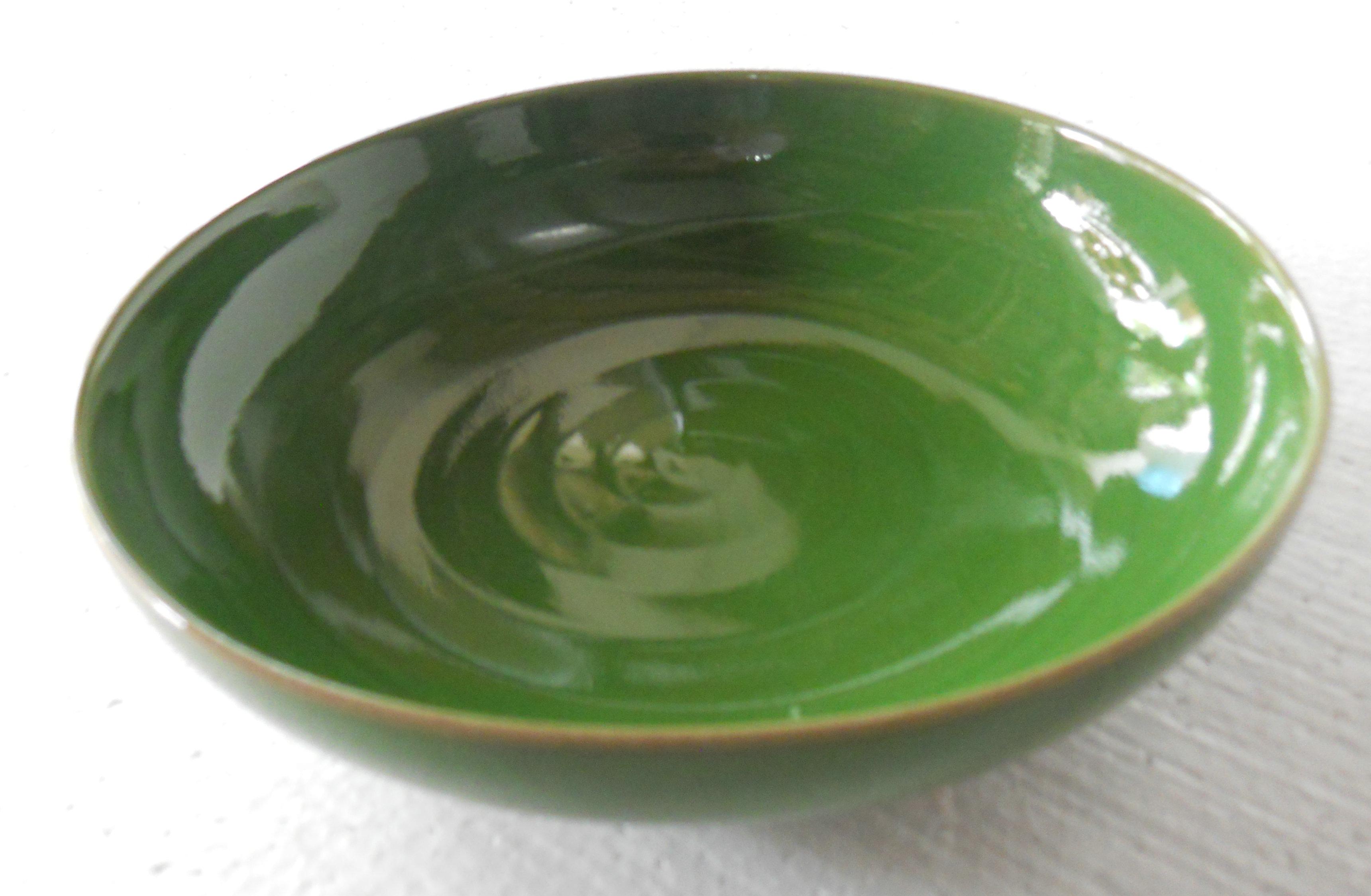 Rygz10 Green Glazed Porcelain Dinner Plate Jingdezhen