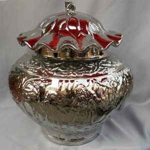 WRYIR64 Silver decorative Porcelain jar