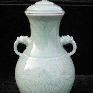 WRYKX05 double ears celadon ceramic vase