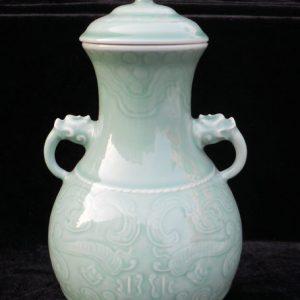 WRYKX05 double ears celadon ceramic vase