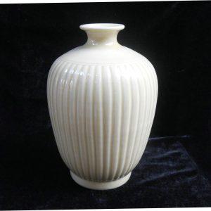 Light yellow Melon edge Porcelain Vase WRYMA09