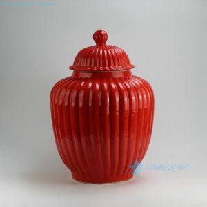 WRYMA33 H55cm Red melon Temple Jar