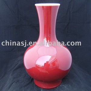 Red glazed porcelain vase ball