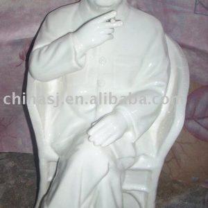 WRYGV01 Chairmen Mao Porcelain Statue