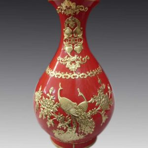 Red Chinese Vase WRYHT108