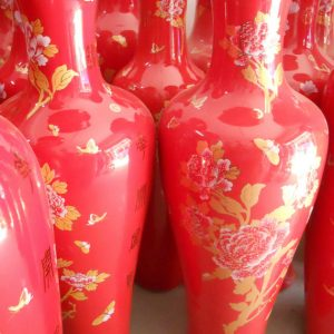 WRYKW10 Large Chinese Red Vase