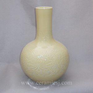 WRYMA13 Decorative Ceramic Bulb Vase Engraved flower